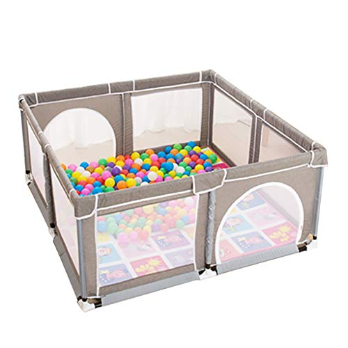 WYQ Grande Aire de Jeux pour bébé Grise, Aire de Jeu sécurisée pour bébés et Enfants, Parc pour bébé et Tapis Rampant (4 Tailles Disponibles au Choix) barrière de sécurité (Taille : 150×150x70cm)