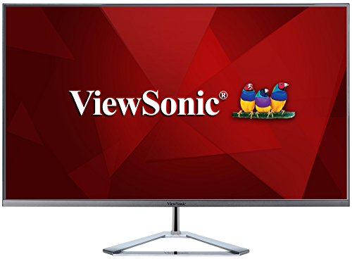 Viewsonic VX3276-MHD-2 80 cm (32 Zoll) Design Monitor (Full-HD, IPS-Panel, HDMI, DP, Eye-Care, Eco-Mode, Lautsprecher) silber-schwarz