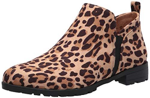 Dr. Scholl's Shoes Women's Rollin Ankle Boot, Tan Black Leopard Microfiber, 9