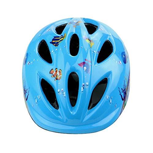 shuhong Fahrradhelm Hochwertiger Kindersport Ski Kopfschutz Fahrrad Fahrradschutzhelm Fahrradzubehör,Blue-OneSize46-55cm