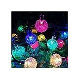 Guirnaldas Luminosas Cadena De Luz Al Aire Libre,Luces LED Impermeables para Jardín Solar,Pérgola De Boda Festiva con Jardín En El Patio,Fijo/Intermitente(Size:6.5m,Color:Multicolor)