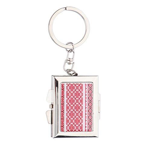 SM SunniMix Portable Pliable Forme Ovale Poche Compacte Miroir Porte-clés - Aléatoire - #3 Rond