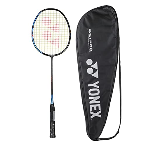 YONEX Badminton Racquet Smash Black Ice Blue (G4, 73 Grams, 28 lbs Tension)