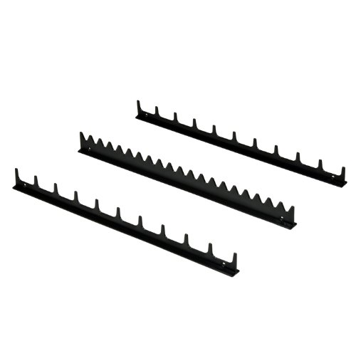 Ernst Manufacturing 6011M Screwdriver Rail Set with Magnetic Backing, 20 Tool, Black