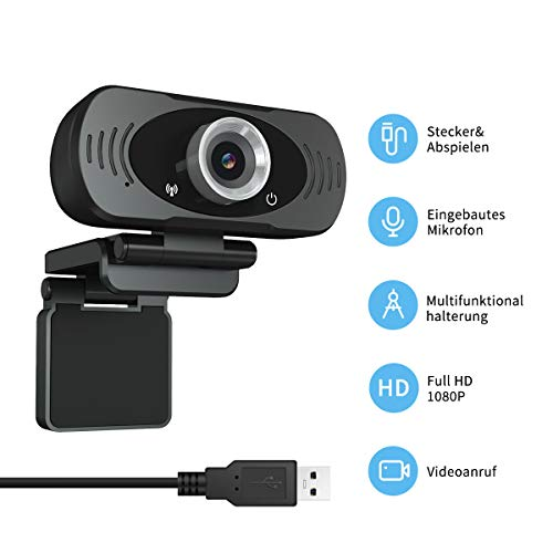 Guo duo Webcam Full HD 1080P Com...