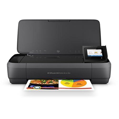 HP OfficeJet 250 CZ992A Stampante All-in-One Portatile, Funzione Stampa/Copia/Scansione fino a 600 dpi, Nero