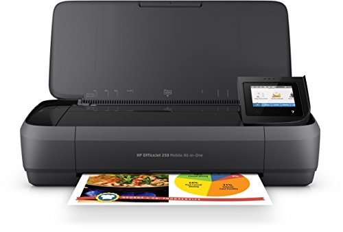 HP OfficeJet 250 CZ992A Stampante All-in-One Portatile, Funzione Stampa/Copia/Scansione fino a 600 dpi, Nero