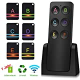 Key Finder locator Wireless - Key Tracker and tracer Support Remote Control Anti-Lost Keychain Locator with 6 Receiver Support Remote Key Locator, Pet Tracker, Wallet Tracker
