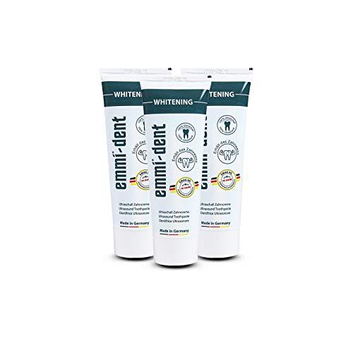 emmi®-dent Zahnpasta für Ultraschallzahnbürsten – Whitening – mit Sogwirkung, 75 ml (3 Stück)