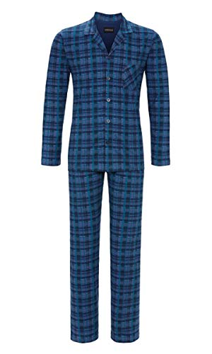 Ringella Herren Pyjama durchgeknöpft Denim 50 9541209, Denim, 50