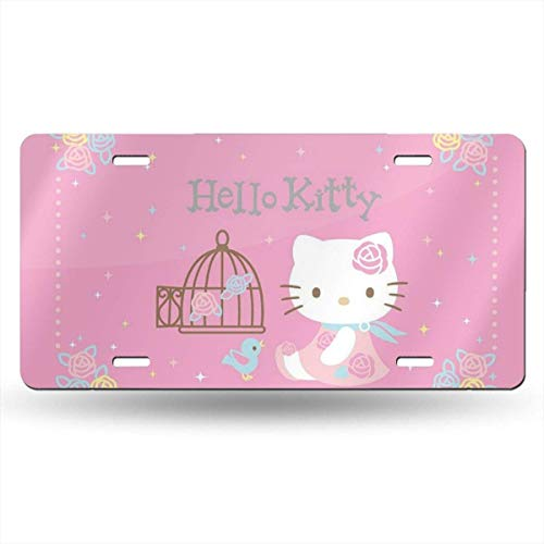 Suzanne Betty Aluminum License Plates - Elegant Hello Kitty License Plate Tag Car Accessories 12 X 6 Inches