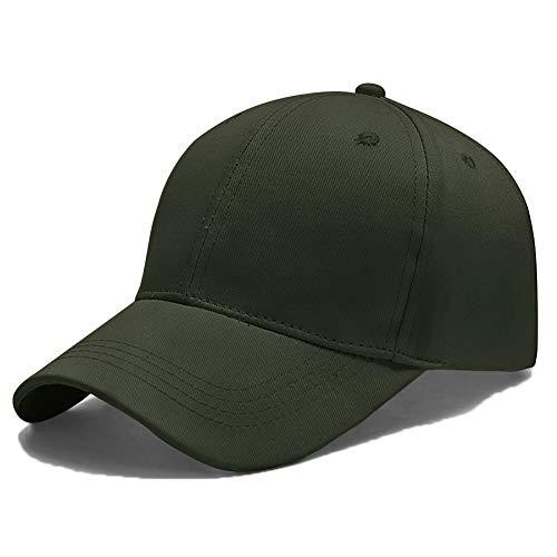 Yidarton Unisex Kappe Outdoor Baseball Cap Verstellbar Erwachsenen Mütze Casual Cool Mode Baseballmütze Hip Hop Flat Hüte (Armeegrün)
