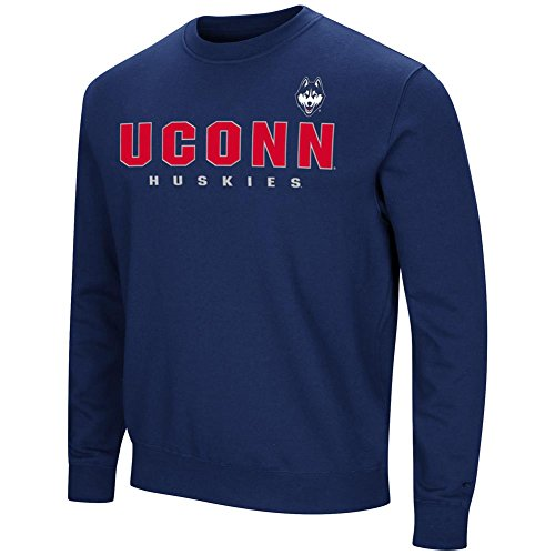 UCONN Connecticut Huskies Sweatshirt Playbook Crew Neck Fleece (XX-Large)
