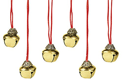 Charmed By Dragons Christmas Chanukah Holiday Jingle Bell Necklace Lot of 6 (Gold)