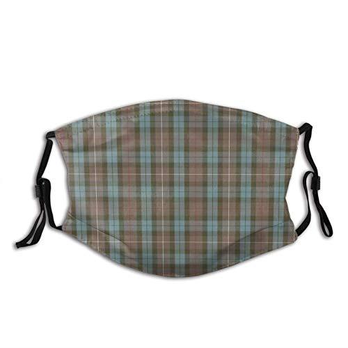 asdew987 Scale Fraser - Tela de tartán para caza, lavable, reutilizable, cubierta transpirable con bucles ajustables para los oídos