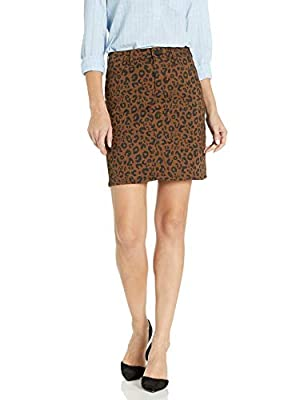 Sanctuary Women's Sia Short Length Leopard Print Skirt, 30