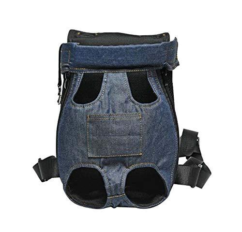 BLANCHO BEDDING Extérieur Portable Bleu foncé Sac de Voyage pour Sac à Dos pour Animaux de Compagnie (Convient pour 2,5 à 3,5 kg)