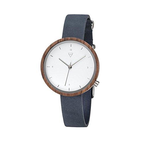 Kerbholz Damen Analog Quarz Uhr mit Leder Armband 4251240402529