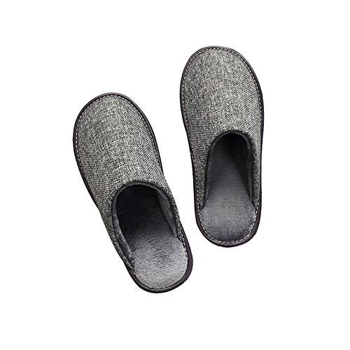 XVXFZEG Algodón Zapatillas, cálido forro de felpa, antideslizante suela de goma, apto for uso interior y al aire libre, zapatos de los amantes del hogar de algodón en otoño e invierno, regalos de la f