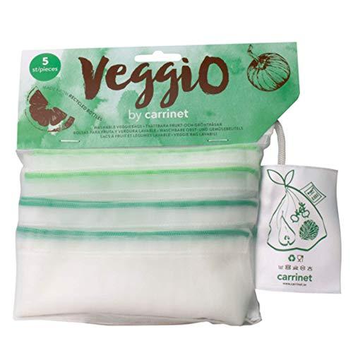 Carrinet Veggio Reutilizable Veggiobags, Pack de 5