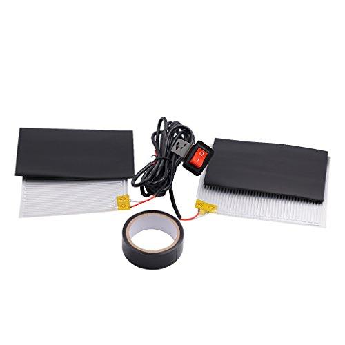 Gazechimp 1 par Eléctricos Calefactables Puños de Manillar con Interruptor Cojines de...