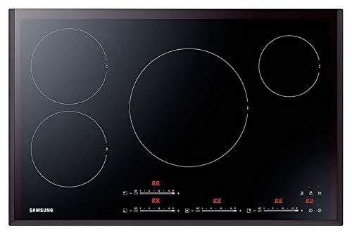 Samsung - Plaque de cuisson à induction NZ84F7NB6AB finition vitrocéramique noire de 80 cm.