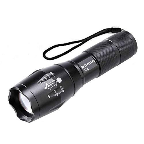 Taschenlampe, BINWO LED Taschenlampe Extrem Hell 2000 Lumen CREE Taschenlampen, Zoombar, Wasserdicht Taktische Taschenlampe LED mit 5 Modis für Camping, Wandern, Outdoor