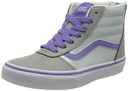 Vans Ward Hi Zip Weatherized Suede, Sneaker, Llovizna Iridiscente climatizada, 33 EU