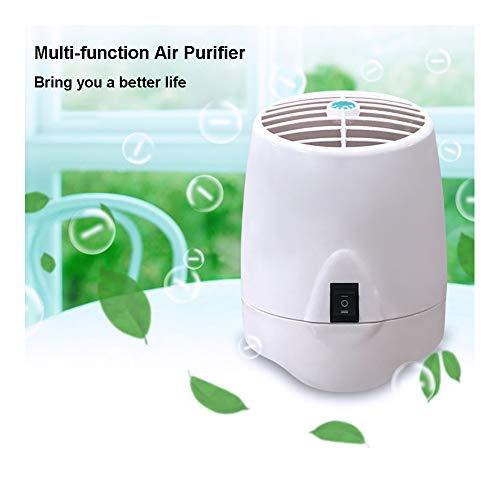 Purificador De Aire Portátil para El Hogar, Filtro De Aire De Filtro De Aire De Escritorio con Función De Luz Nocturna, Ambientador De Ionizador De Aire para Humo De Cigarrillo/Alergias/Bacterias