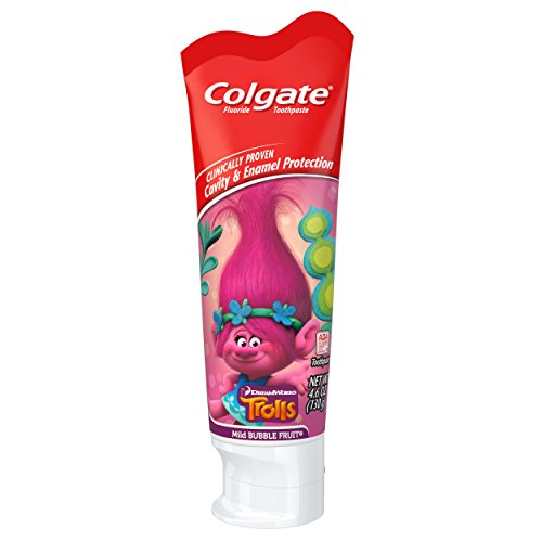 Colgate Kids Toothpaste with Anticavity Fluoride, Trolls, 4.6 ounces (6 Pack)