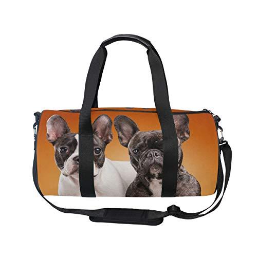 MNSRUU Lustige französische Bulldogge große Reisetasche über Nacht Reisetasche Unisex Hohe Kapazität großes Gepäck Sport Turnbeutel