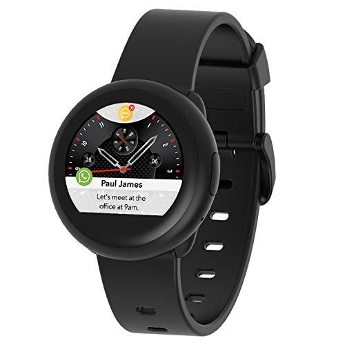 MyKronoz ZeRo&3 Lite Smartwatch Schwarz TFT 3,1 cm (1.22 Zoll) - Smartwatches (3,1 cm (1.22 Zoll), TFT, Touchscreen, 72 h, 40 g, Schwarz)