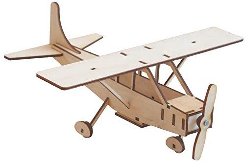 Matches21 - Avión Cessna de madera, modelo de construcción de avión, kit de construcción prefabricado, juego de manualidades para niños a partir de 8 años