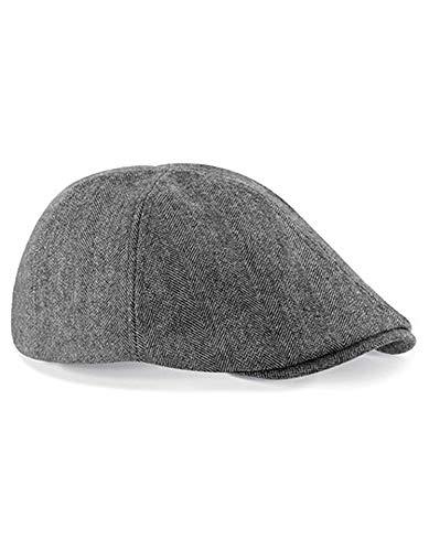 Beechfield Trendige Unisex Gatsby Flatcap Schiebermütze Ivy B622 one size,Grey