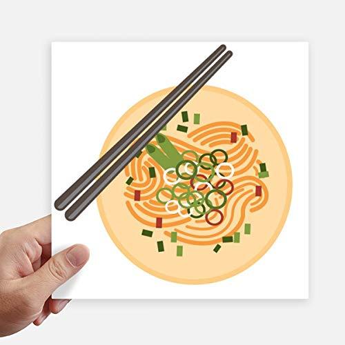 DIYthinker Chinesisches Gericht Nudel Delicious Food-Muster-Quadrat-Aufkleber 20Cm Wand Koffer Laptop Motobike Aufkleber 4Pcs 20Cm X 20Cm Mehrfarbig