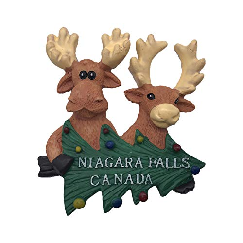 Wedare Canada Niagara Falls 3D Elk Magnete da Frigorifero Souvenir turistici Magneti in Resina Adesivi Magneti per frigo Casa e Cucina Decorazione dalla Cina