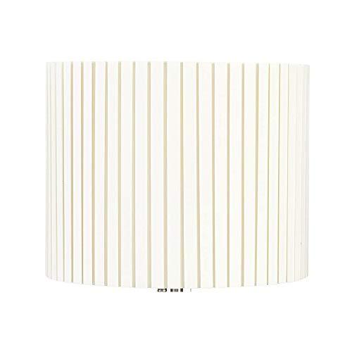 Schirm zu Stehlampe Tischleuchte Pleat von Sompex creme Plissee Ersatz Lampenschirm Stoff Textil hell E14 Ø30cm 25cm hoch
