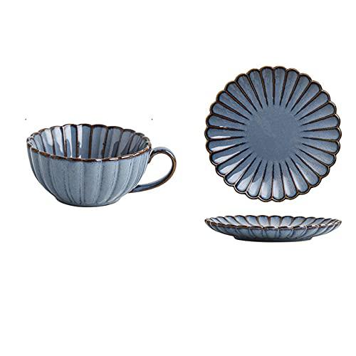 Cerámico Taza De Café,Microondas Cuencos De Sopa Taza De Desayuno,Sencillo Tazas De Sopa-azul-201-300ml