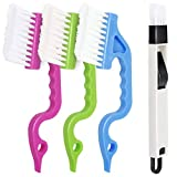 LEOBRO Hand-held Groove Gap Cleaning Tools Door Window Track Cleaning Brushes Air Conditioning Shutter Cleaning Brushes Pack of 4, Shipping by FBA
