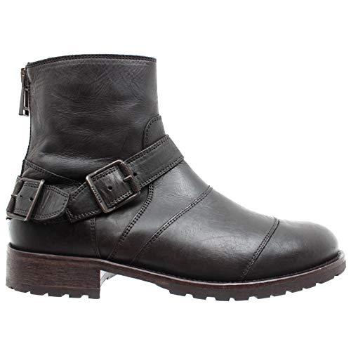 Belstaff Herren Stiefeletten Schuhe 77800217 Trialmaster Black Leder Made Italy