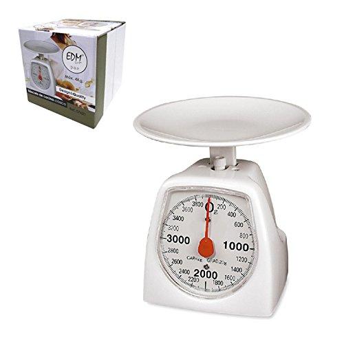 EDM 07621 Mechanische Küchenwaage, max. 4 kg, Kunststoff