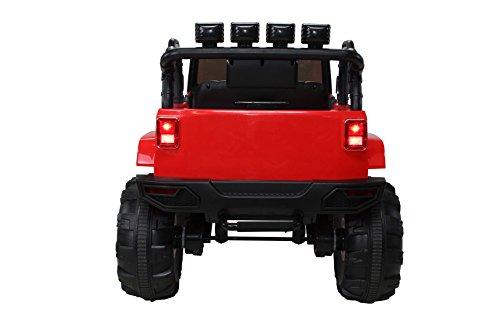 RC Auto kaufen Kinderauto Bild 5: Actionbikes Motors Kinder Elektroauto Offroad Jeep 2 x 35 Watt (Rot)*