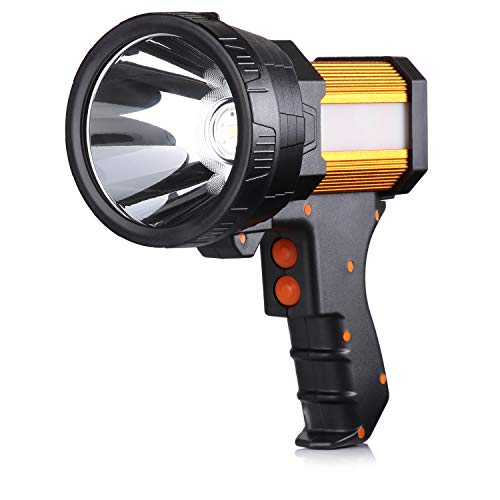 BUYSIGHT Rechargeable spotlight,Spot lights hand held large flashlight 6000 lumens handheld spotlight Lightweight and Super bright flashlight...