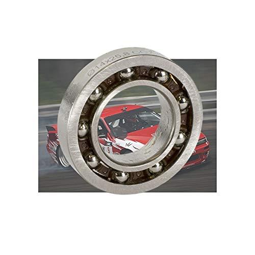 Tangjc-b MR258146E motor trasero rodamiento de bolas 14x25.8x6mm ABEC-3 C3 Liquidación Polymite jaula de nylon T46 Rodamientos for NOVAROSSI.21 1PC ( Color : Silver , Size : 14x25.8x6mm 1PC )