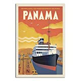 Vintage-Reise-Poster, Panama, Leinwand, Kunstdruck, Bild,