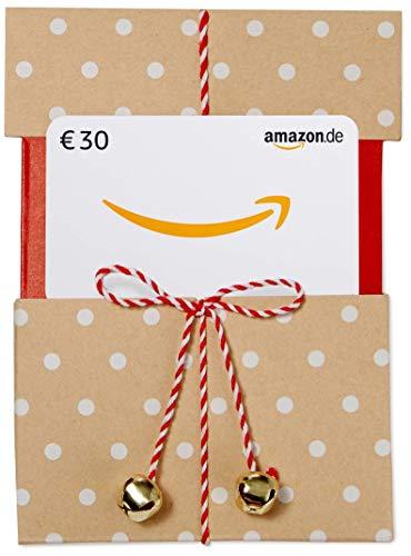 Amazon.de Geschenkkarte in Geschenkschuber - 30 EUR (Beige mit Punkten)
