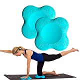 Zealtop Yoga Knee Pad Cushion Extra Thick for Knees Elbows Wrist Hands Head Foam Yoga Pilates Work Out Kneeling pad (Lake Blue 2packs)