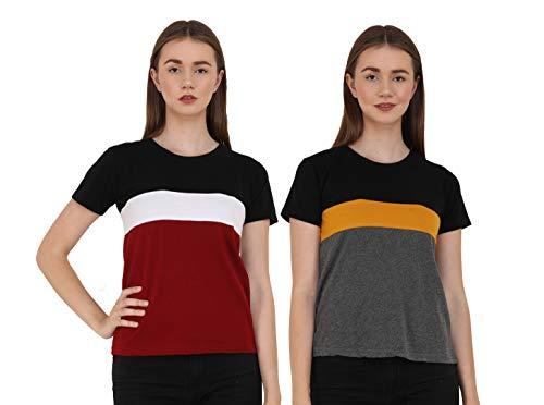 Reifica Women Tshirt Combo Pack of 2   Regular Fit...