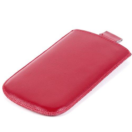 NFE² Echtleder Etui rot mit Ausziehlasche amplicom PowerTel M7000