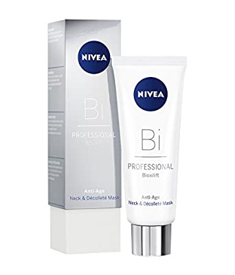 NIVEA PROFESSIONAL Bioxilift Neck and Décolleté Mask (1 x 75 ml), Exclusive and Effective Neck Mask, Anti-Ageing Mask for the Neck and Décolleté, Skin-Firming Anti-Wrinkle Care Cream, 1 x 75 ml